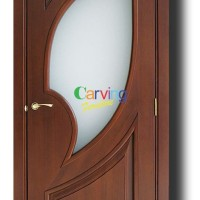 Jual Daun Pintu Minimalis Jati Kaca Kab Jepara Curving Furniture Tokopedia