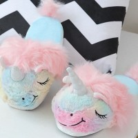 UNICORN DOLL SLIPPERS Sandal Boneka Kamar Tidur Rumah Anak Lucu Import