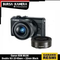 Canon EOS M100 Double Kit 15-45mm + 22mm Black