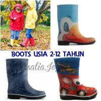 Sepatu Boots Anak Karakter usia 6-10 tahun - Sepatu Anak Anti air