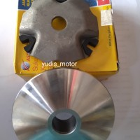 RUMAH ROLLER + TUTUP MOVABLE DRIV FACE SET HONDA VARIO 110 ASPIRA