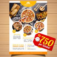 30+ Ide Desain Pamflet Rumah Makan - Little Duckling Blog