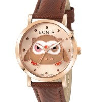 JAM TANGAN WANITA BONIA BNB10506-2577 ROSEGOLD BROWN ORIGINAL MURAH