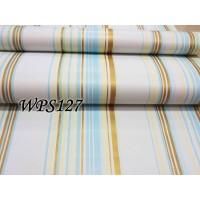 LUBNA WALLPAPER STICKER 45CMX5M WPS127 WHITE N BLUE BROWN LINE WALPAPE