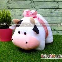 Boneka Sapi Pita Mini ( HK - 620619 )