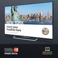 Template PowerPoint CITY TEMPLATE NEW YORK | PresentationLoad