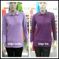 Kaos Merah Polos Polo Shirt Wanita Lengan Panjang