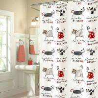 Dijual Tirai Korden Penutup Kamar Mandi Waterproof Shower Curtain