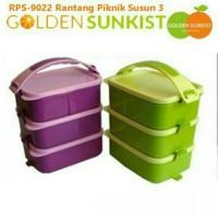 Rantang Piknik Susun 3 Golden Sunkist RPS 9022