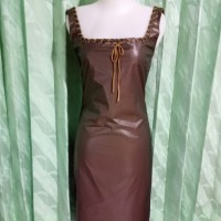 dress import icy dark brown Metallic