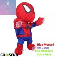 Boneka Spiderman Bisa Nyanyi , Joget , Mengikuti Anda Bicara , Goyang