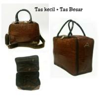 AMT paket murah Tas koper besar dan kecil coklat weekend travelling f40ceed47dea3