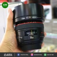 SECONDHAND - Canon EF 50mm f1.2L USM - UA1209 - Gudang Kamera Malang