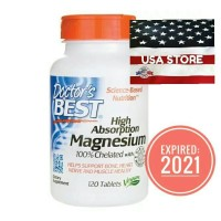 DOCTOR MAGNESIUM High Absorption Chelated 120 Tablets Doctor's Best