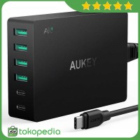 Aukey Charger USB 4 Port 2 Port Type C 60W QC3.0 & AiPower - PA -H410