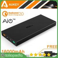Aukey Power Bank 2 Port 2.4A 16000mAH QC2.0 & AiPower - Hitam -H430