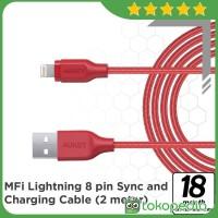 Aukey CB-AL2 Braided Nylon Lightning Cable 2 m - Red -H378