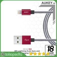 Aukey CB-D24 Mfi Lightning USB Cable 1 Meter - Red -H394