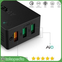 Aukey PA-T2 Wall Charger 42W 3 Port Quick Charge 2.0 -H421