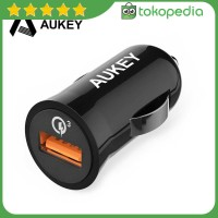 Aukey Charger Mobil 1 Port 19.5W 3A QC3.0 - CC-T10 - Hitam -H405