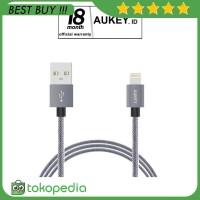 Aukey CB-D24 Mfi Lightning USB Cable 1 Meter - Grey -H391