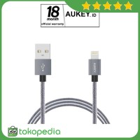 Aukey CB-D24 Mfi Lightning USB Cable 1 Meter - Grey -H392