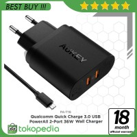 Aukey PA-T16 Dual Port Turbo Charger with Quick Charge 3.0 -H418