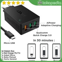 Aukey PA-T14 Wall Charger with Quick Charge 3.0 - Hitam [42W/3 -H416