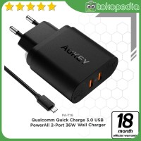 Aukey PA-T16 Dual Port Turbo Charger with Quick Charge 3.0 -H419