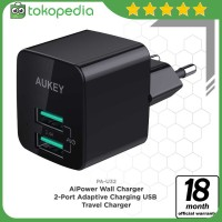 Aukey PA-U32 Mini Dual Port Wall Charger with Aipower -H424