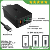 Aukey PA-T14 Wall Charger with Quick Charge 3.0 - Hitam [42W/3 -H417