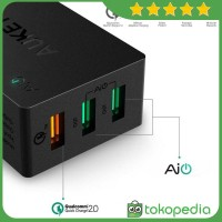 Aukey PA-T2 Wall Charger 42W 3 Port Quick Charge 2.0 -H420