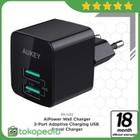 Aukey PA-U32 Mini Dual Port Wall Charger with Aipower -H425