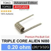 Authentic Avocado TRIPLE CORE ALIEN Ni80 Coil 0.20 ohm | nichrome wire