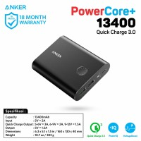 Anker Powerbank PowerCore+ 13400mAh Quick Charge 3.0 Hitam - A1316H11