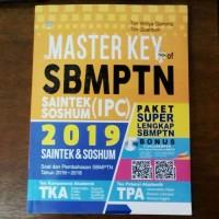 Buku SBMPTN - Buku Master Key of SBMPTN Saintek dan Soshum (IPC) 2019