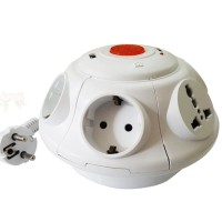 Kabel Roll UFO / colokan listrik multi socket 6 lubang + 2 usb charger