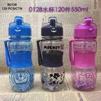 Botol Minum Hello Kitty, Doraemon dan Mickey (0128)