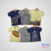 Kazel – Tshirt Penguin 6in1 - kaos anak laki laki