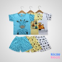 Kazel –Boy Set 3in1–Tiger 0-12Th-setelan anak laki laki