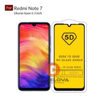 Full Cover Tempered Glass Warna 5D Redmi Note 7 ( 6.3 inch )