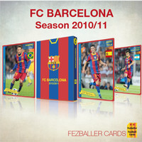 Kartu Bola Fezballer Cards tim La Liga FC BARCELONA season 2010-2011