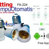 Fitting Lampu Otomatis dengan IR sensor FA224