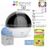 EZVIZ C6T Mini 360 Plus 1080P Ip Camera CCTV Free Toshiba 32Gb 90Mb/s