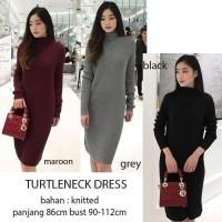 turtleneck dress knitted
