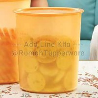 Tupperware Medium Mosaic Canister 1pcs - Gold Toples Cantik