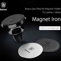 Baseus Magnetic Disk Metal&Leather Iron Plate for Car Magnetic Holder