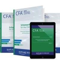 PAKET CFA 2019 Schweser Level 1 - 3 (15 Buku + Quicksheet Berwarna)
