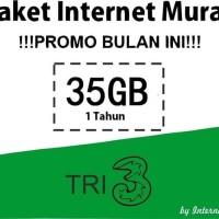 Harga kartu perdana paket internet kuota tri 3 three aon 1 tahun 35gb 5gb | Pembandingharga.com