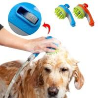 Kepala Shower Air 2 in 1 Sikat Mandi Anjing Pet Grooming Tool - Biru